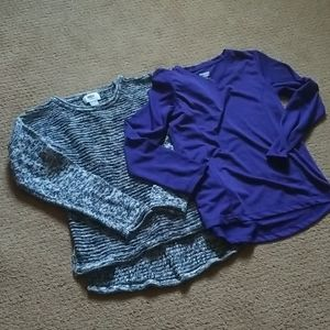 Girls tops old navy sweater & Daskin Now athletic
